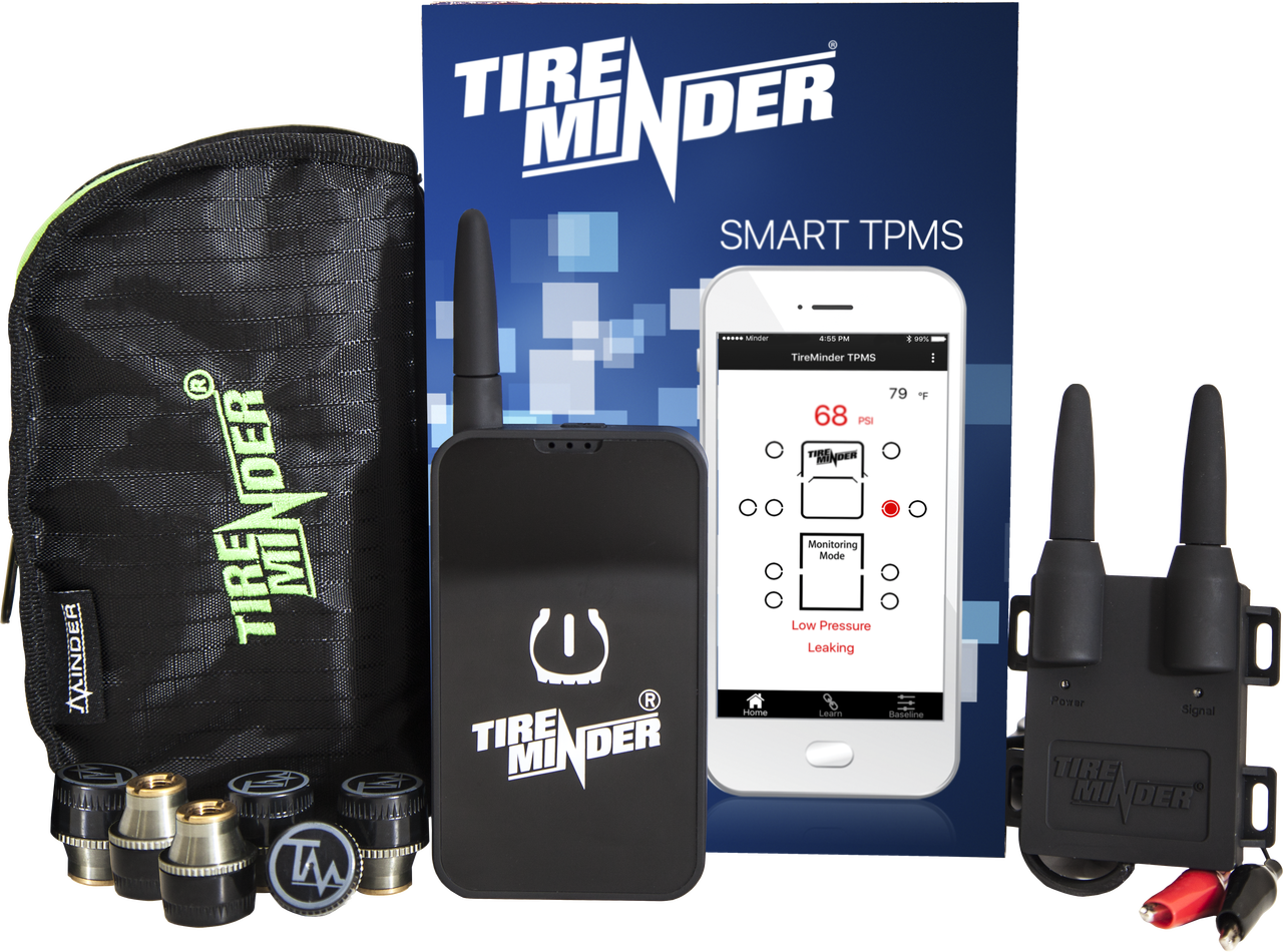 TireMinder Smart TPMS - Kit Contents - 4 Tire Kit