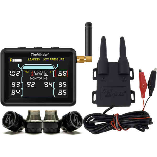 TireMinder i10 RV TPMS with 4 Transmitters